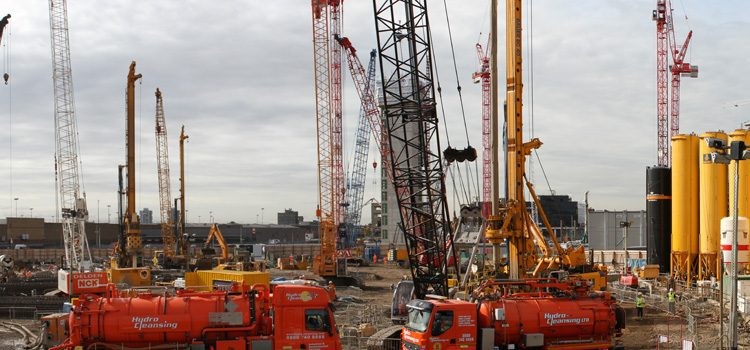 New London Embassy construction site panorama #3