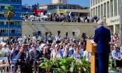 Kerry at U.S. Embassy's Flag-Raising Ceremony in Cuba
