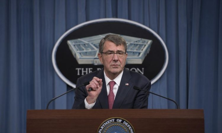 Defense Secretary Ash Carter announces his Women in Service Review during a press brief at the Pentagon, Dec. 3, 2015. (DoD photo)