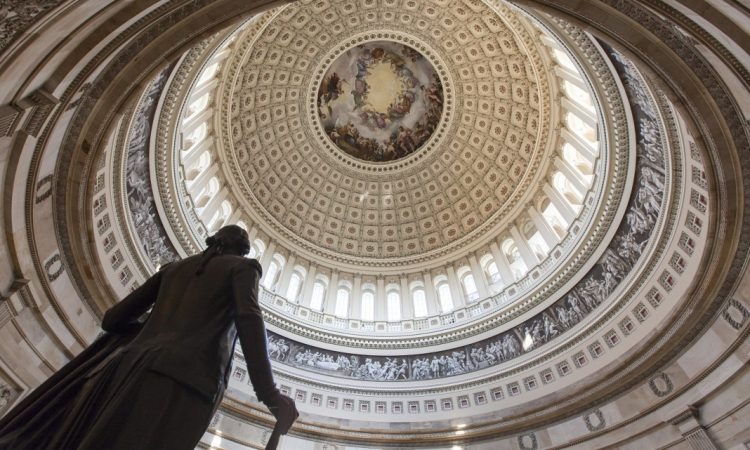 Statue of George Washington in the US Capitol