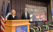 Ambassador Russell Introduces Secretary Kerry at an event at the US State Department