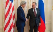 Secretary Kerry Shakes Hands With Foreign Minister Lavrov in Moscow, Russia