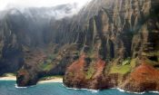 A secluded bay on the US island of Hawaii