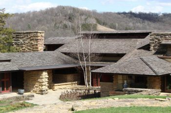 The Taliesin East estate, designed by Frank Lloyd Wright, is a magnet for architecture students and tourists. (Edward Stojakovic via Flickr/Creative Commons)