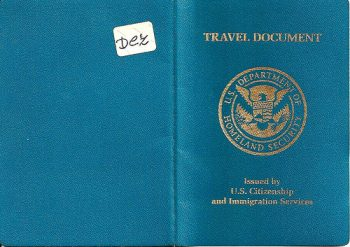 Collection Of Re Entry Permit Travel Documents From Uscis