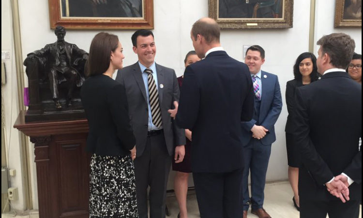 After signing the condolence book TRH spoke to representatives from the US embassy's LGBT network GLIFAA