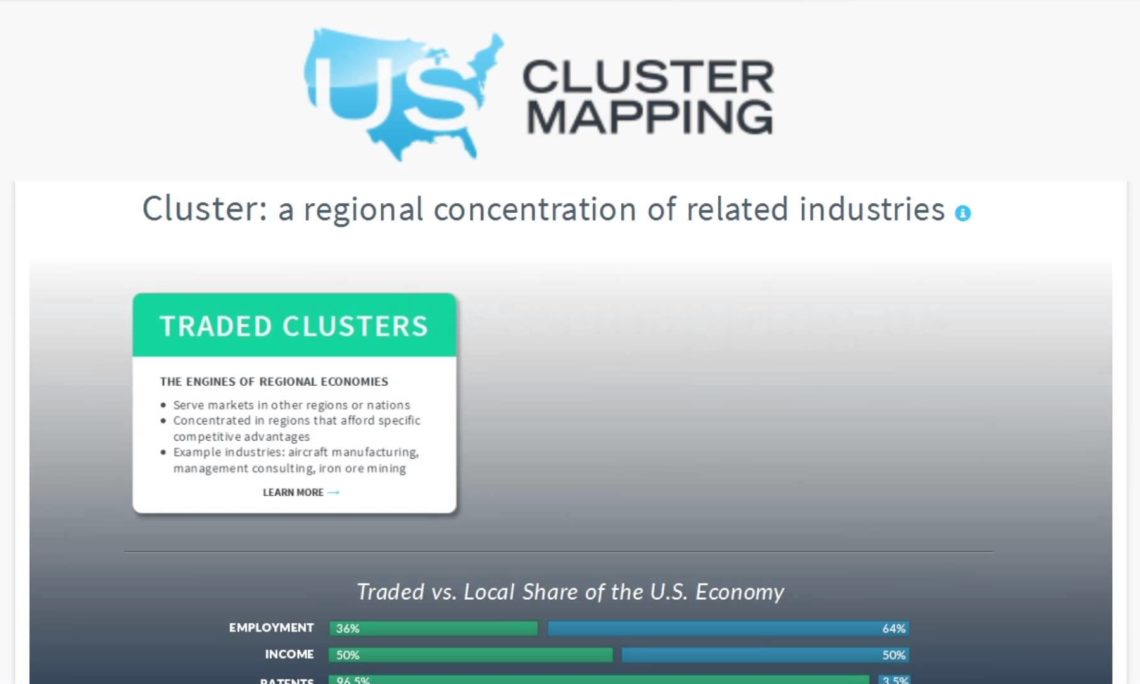 Cluster mapping us