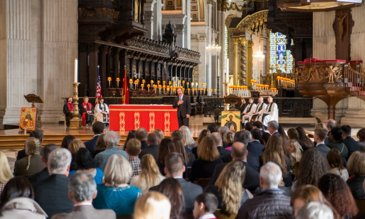 Thanksgiving Day Service 2017 at St Pauls cathedral in London