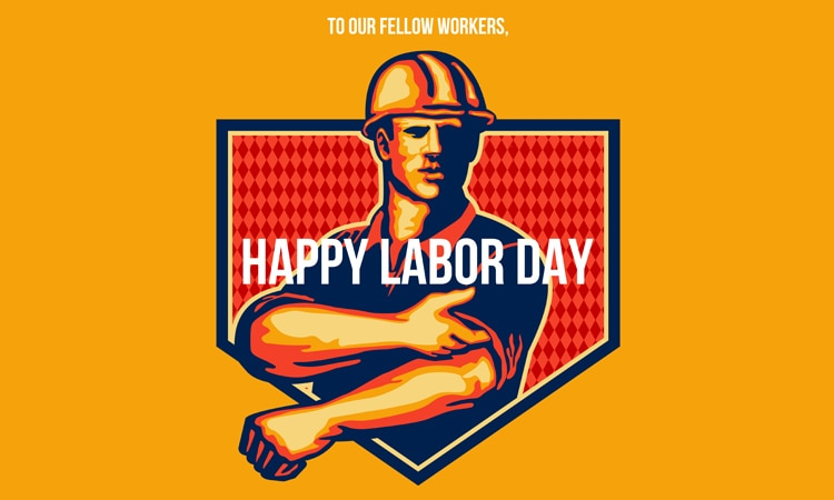 US Labor Day greeting poster
