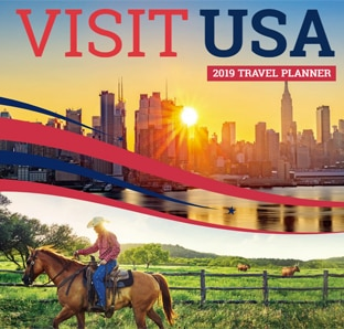 Download the free VisitUSA travel planner 2019